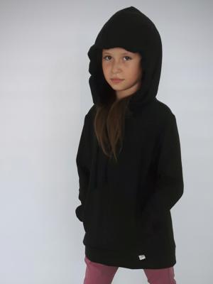 Bluza dziewczęca kangurka czarna