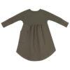 sukienka dziewczęca khaki tył