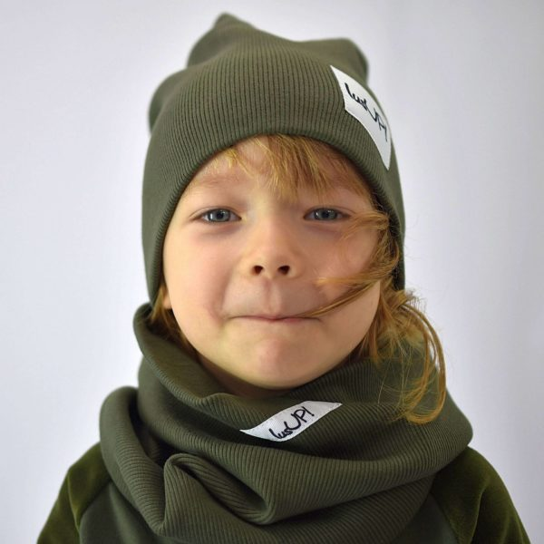 czapka z kominem dziecięca