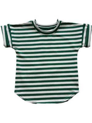 koszulka dziecieca paski zielone